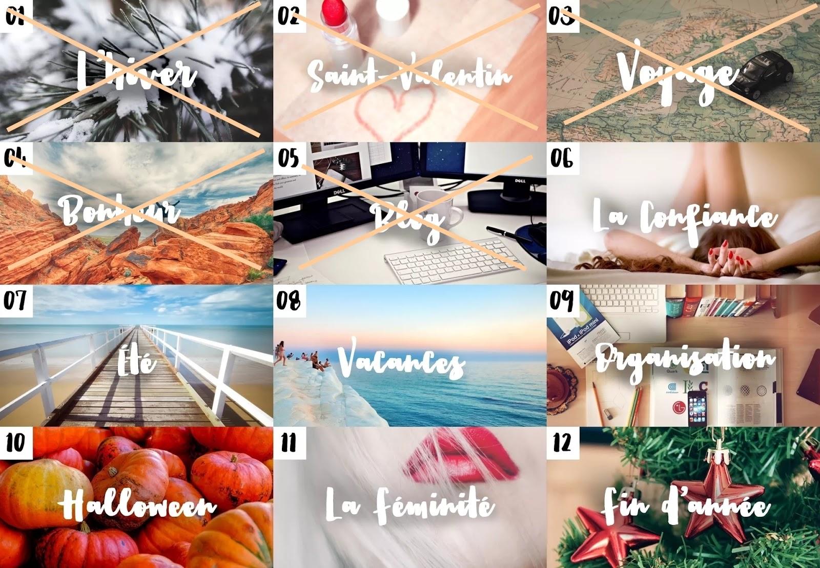 Calendrier des blogueuses mai