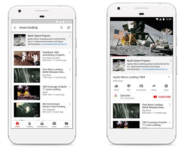 Ein Smartphone mit YouTube Suchergebnissen
