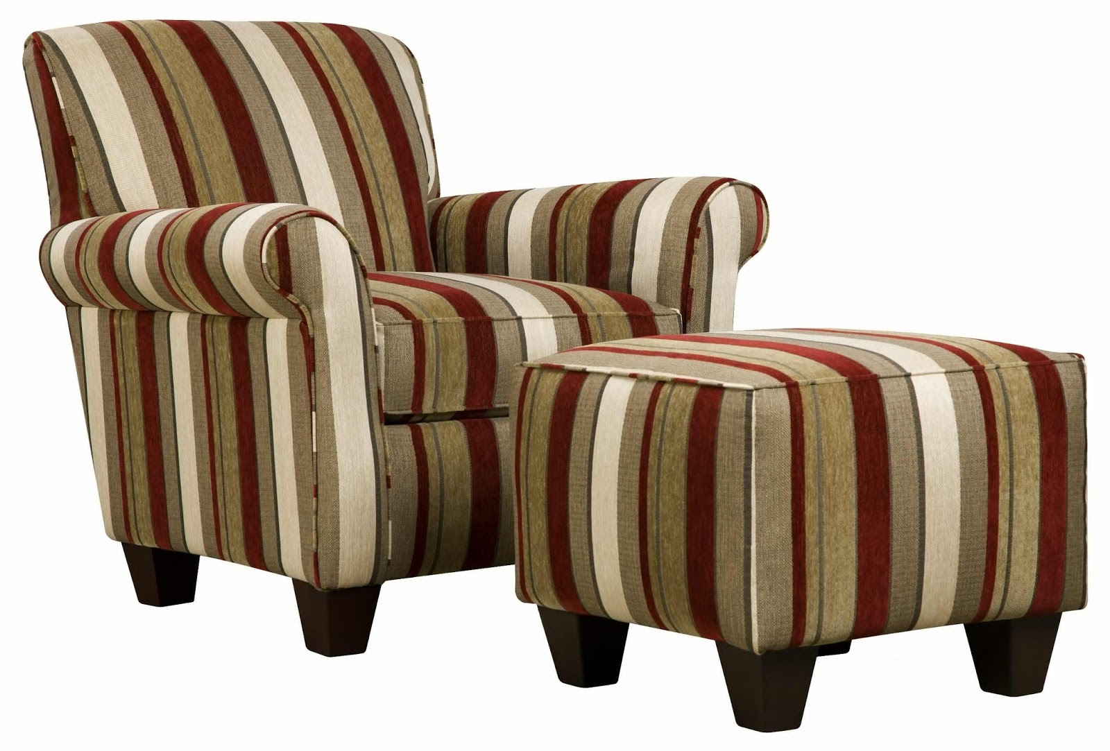 Living Room Chairs with Ottomans Large Style