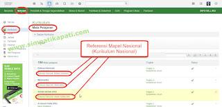 Referensi Mapel Nasional (Kurikulum Nasional)