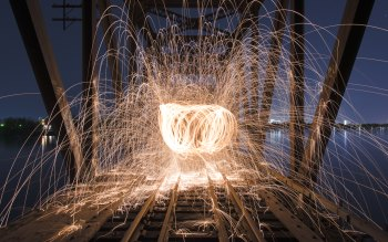 Wallpaper: Steel Wool. Light Painting