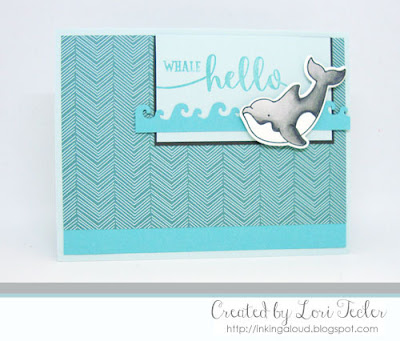 Whale Hello card-designed by Lori Tecler/Inking Aloud-stamps and dies from Avery Elle
