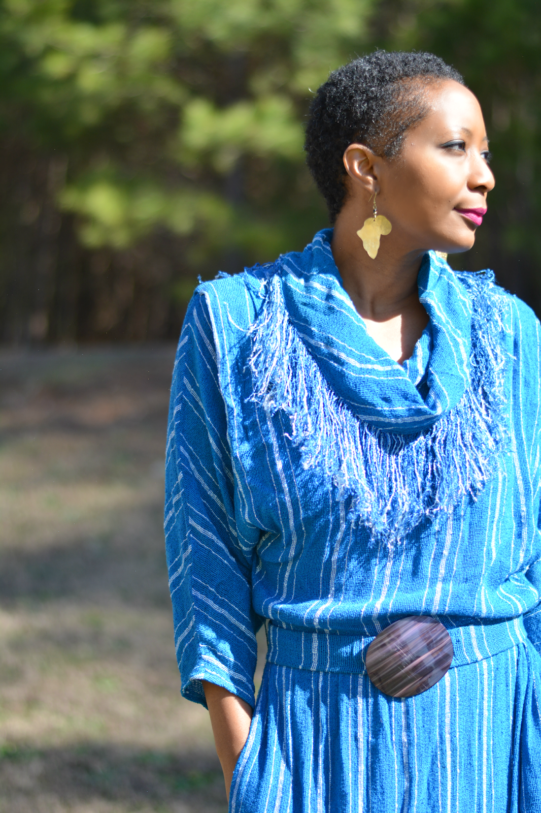 thrift style featuring a vintage fringe dress
