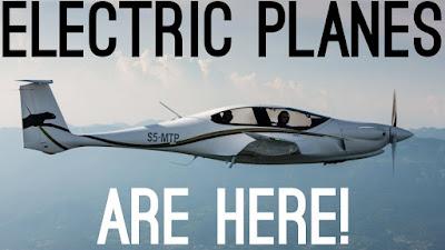 Electric Plane menggunakan bahan bakar listrik dan dikembangkan agar irit tenaga dan ramah lingkungan