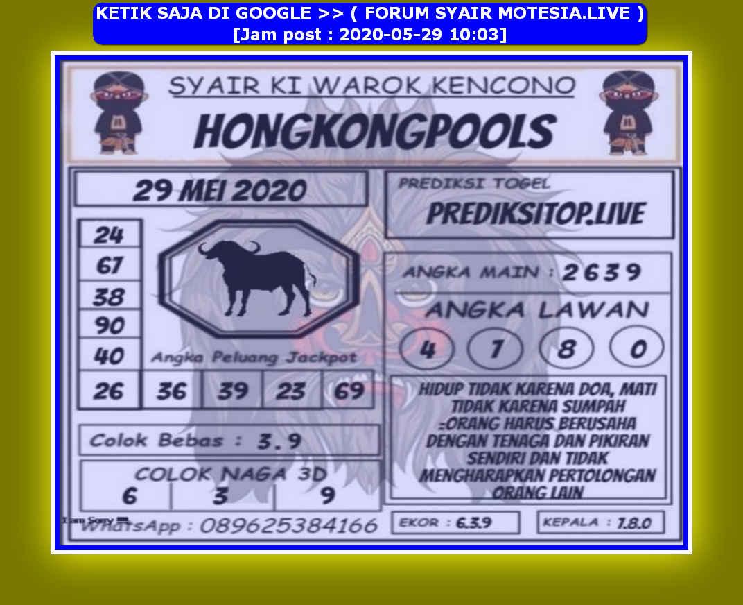 Kode syair Hongkong Jumat 29 Mei 2020 171