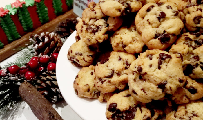 Soft and chewy cookies with chocolate chips