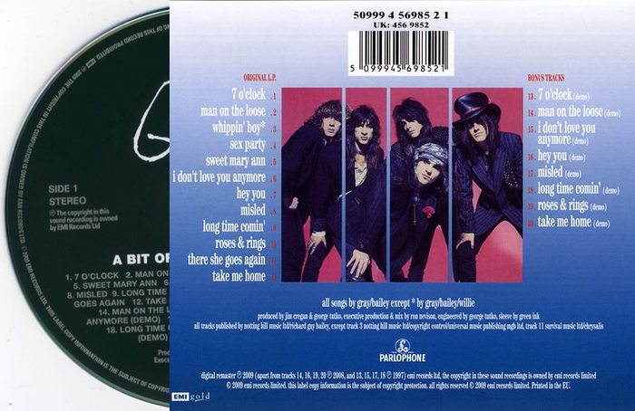THE QUIREBOYS - A Bit Of What You Fancy [20th Anniversary Edition Remastered +8] back