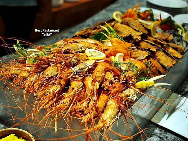 Feast Buffet Seafood Menu  - Seafood On Ice - River Prawns