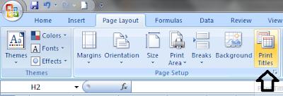 Pada ketika cetak dokumen atau print data di ms Cara Print Judul Berulang Di Excel