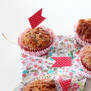 Illustration Muffin Framboise & Flocons d'Avoine