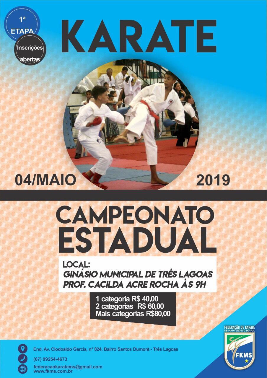 Campeonato Sul-Mato-Grossense de Karate - 1ª Etapa