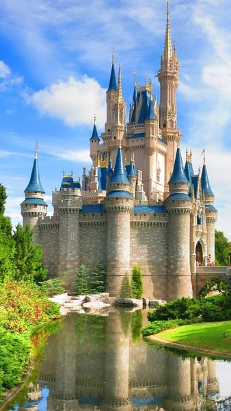 Cinderella Castle Side at Walt Disney World Resort