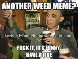 Barrack Obama says: Another weed meme? Fuck it, it's funny. Have a like.