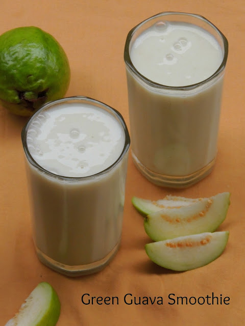Green guava smoothie, Chilled Guava smoothie