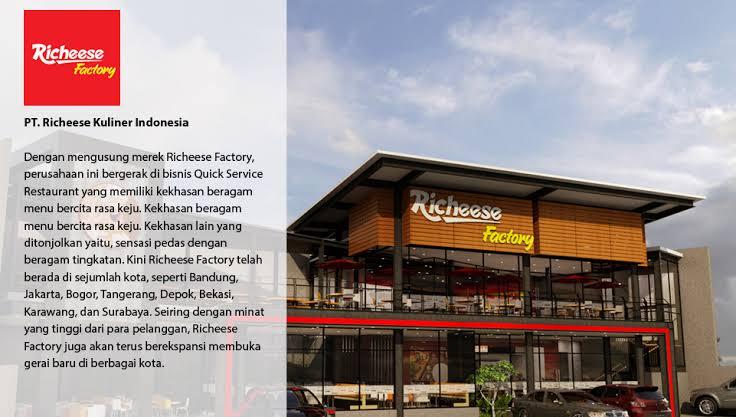Lowongan Kerja Lulusan Sma Smk S1 Pt Richeese Kuliner Indonesia Richeese Factory Terbuka 10