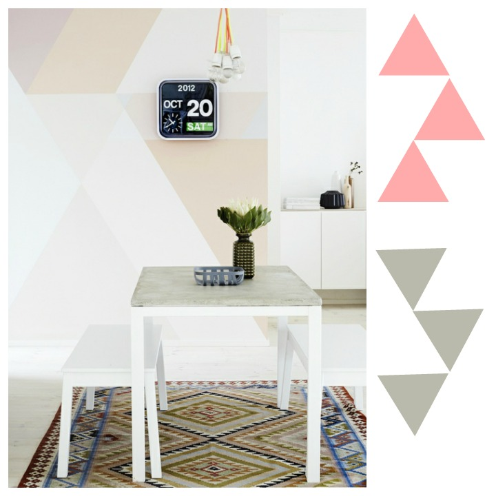 Geometr a en las paredes blog de decoraci n diy ideas for Casa geo minimalista