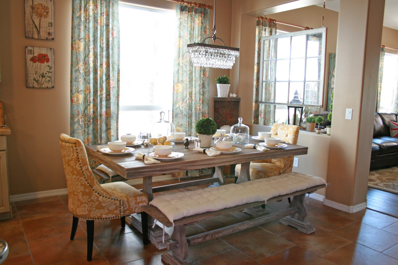 kitchen tables with bench deep fryer grand design donnas living and dining room