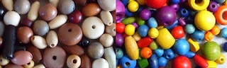 wooden beads at Little Beader