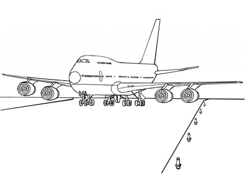 - Printable Coloring Pages: Printable Airplane Coloring Sheet - For Kids Boys  Drawing A Plane