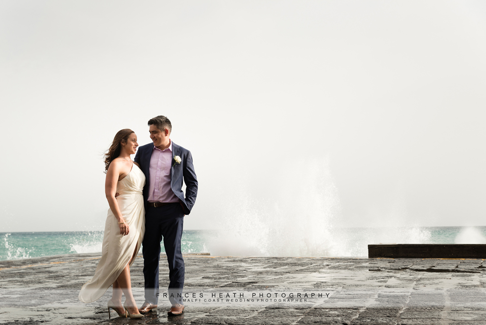 Positano wedding on the beach