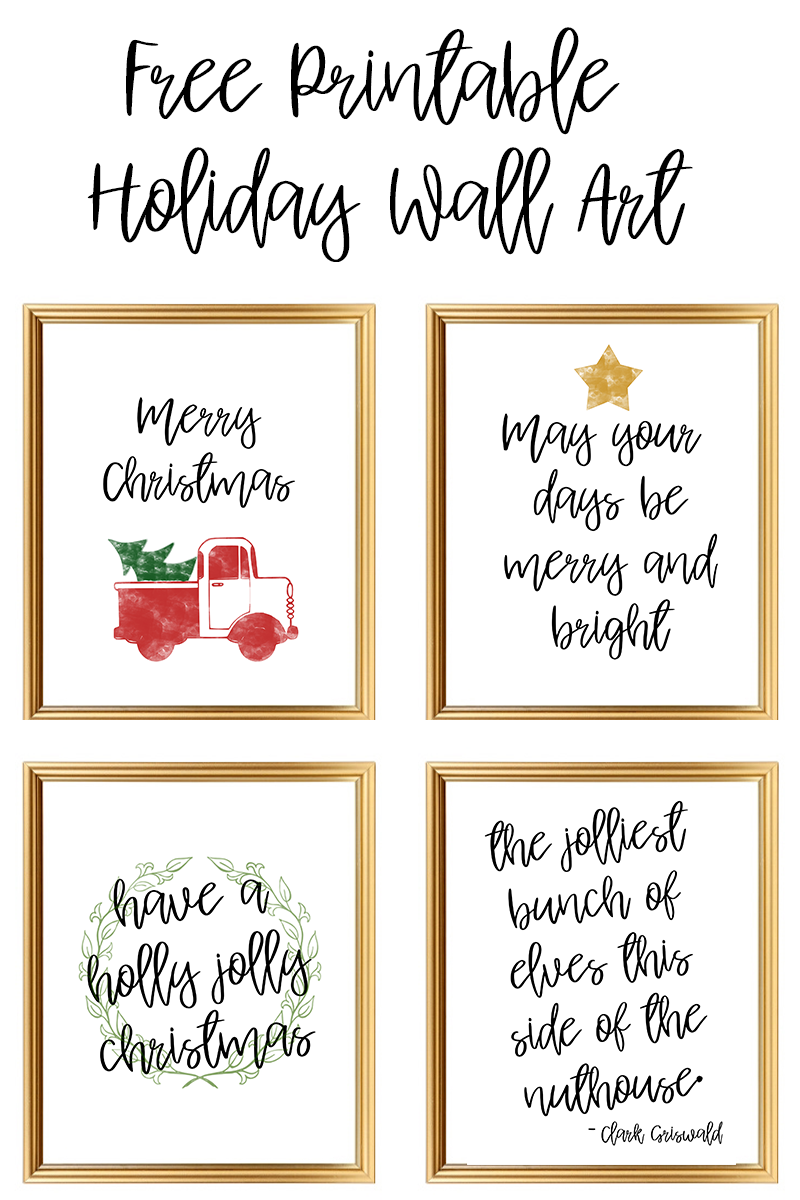 Free Printable Holiday Wall Art