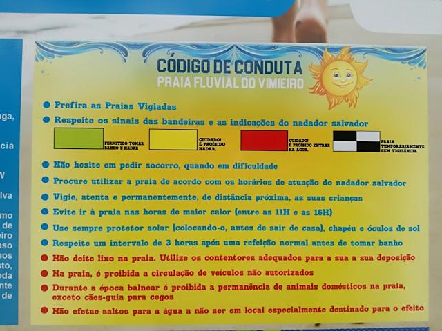 Código de Conduta para a Praia Fluvial do Vimieiro