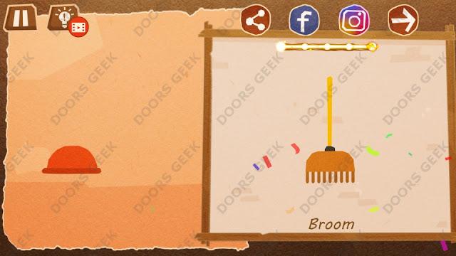 Chigiri: Paper Puzzle Novice Level 12 (Broom) Solution, Walkthrough, Cheats