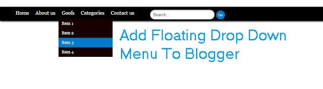 Floating Drop Down Menu