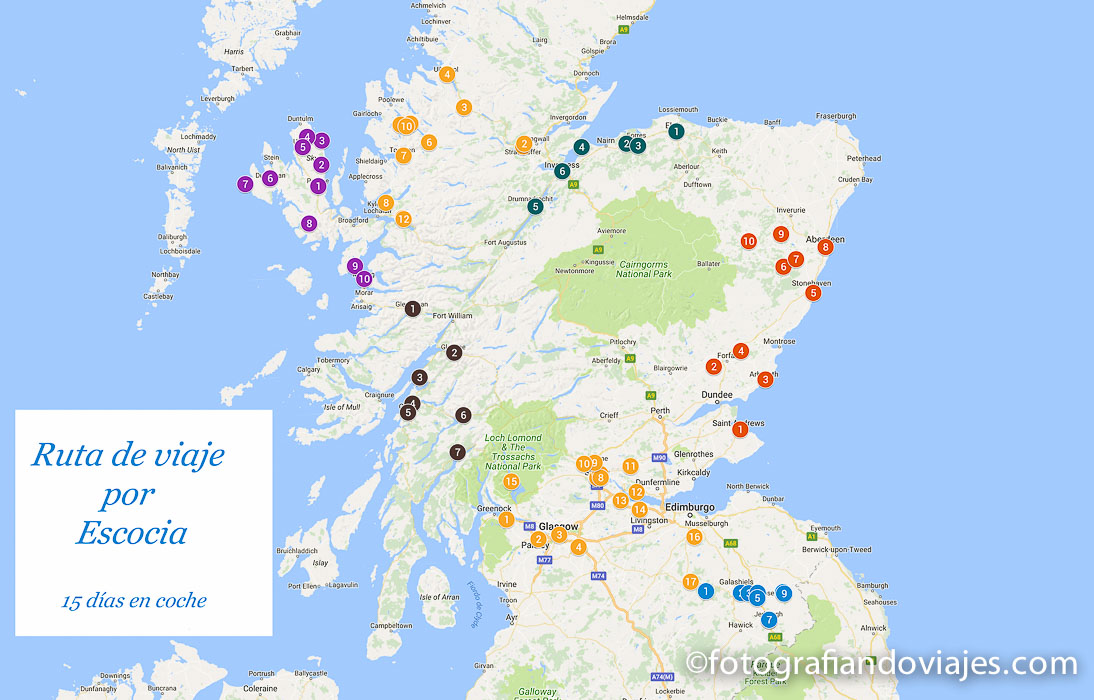 Ruta viaje por Escocia