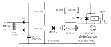 dthis simple circuit can do a lot and immediately break the power from the  appliance if there is any increase or decrease in the mains voltage
