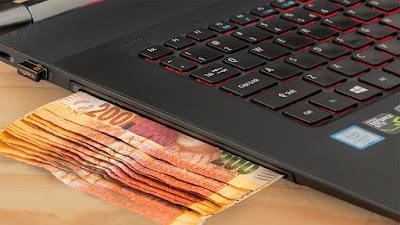 computador dinheiro