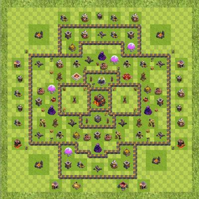 War Base Town Hall Level 10 By 212jjoo7.ra (1 TH 10 Layout)