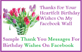 Thank You Messages! : Sample Thank You Messages For Birthday ...