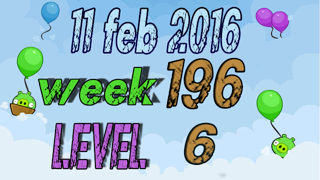 Angry Birds Friends Tournament level 6 Week 196