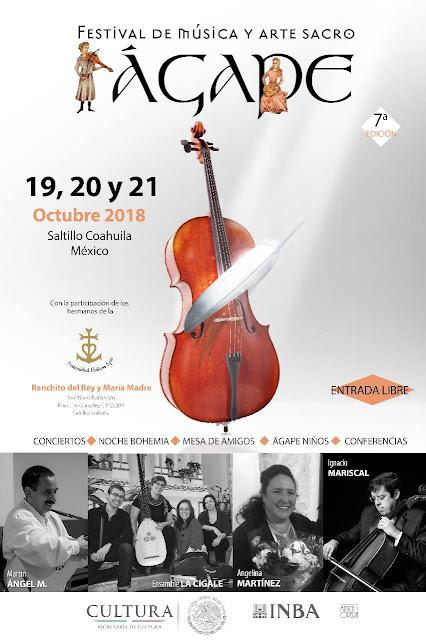 programa festival ágape 2018