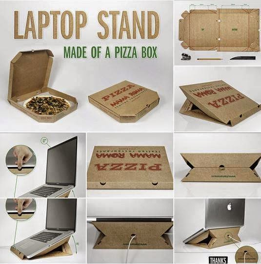 Laptop Stand ( Made Of A Pizza Box )