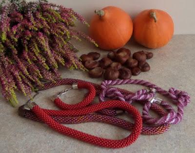 Jesienne sznury koralikowe