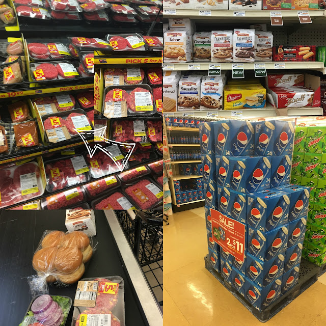 Many of the items I purchased at Giant Eagle, in the grocery aisle.