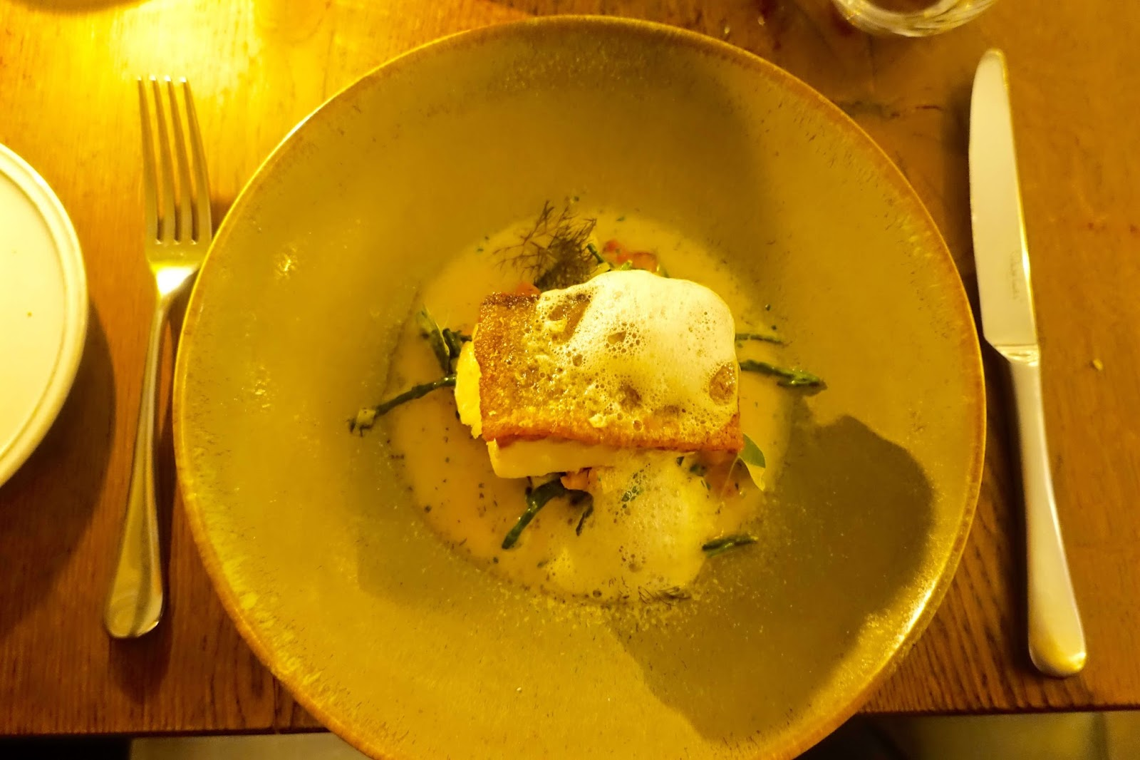 Cornish cod, haddock and potato broth a la carte menu