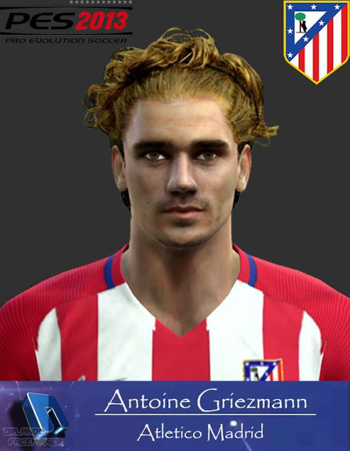 Antoine Griezmann Face With New Hair Pes 2013 Patch Pes