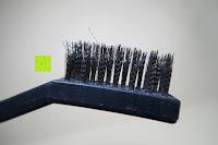 Bürste Seite: Lavievert Knoblauchpresse für ungeschälte Knoblauchzehen,aus Edelstahl (beschenkt mit Reinigungsbürstchen) -Bedecken Ihre Hände nicht mehr Knoblauchgeruch-