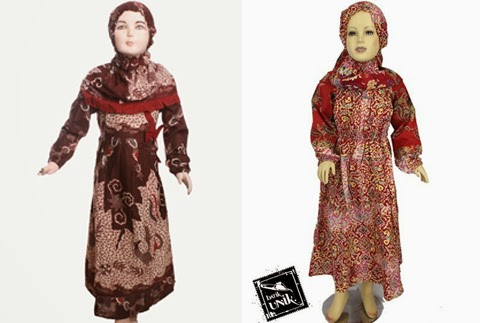 baju batik muslim anak perempuan