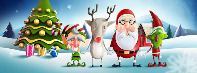 Cute Christmas Santa team facebook cover
