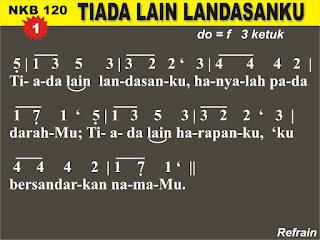 Lirik dan Not NKB 120 Tiada Lain Landasanku