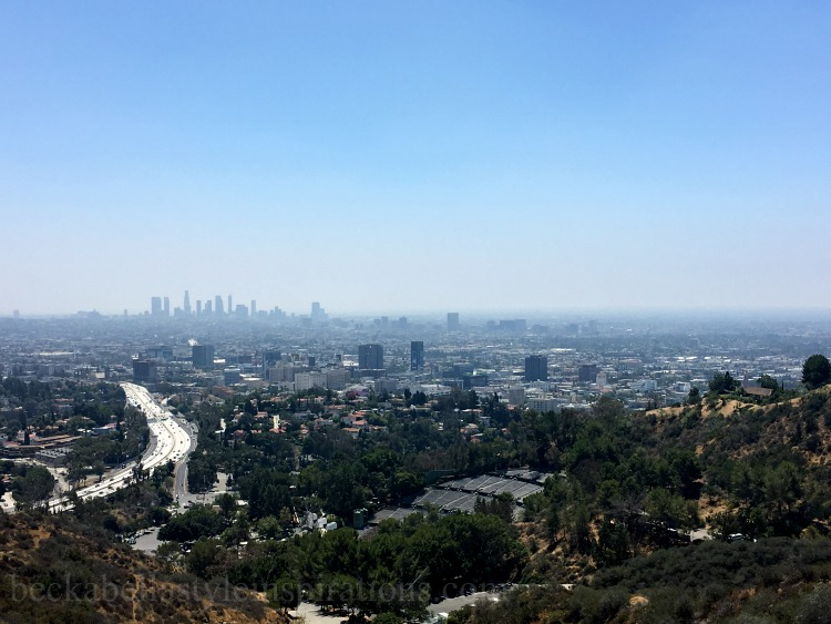 Runyon Canyon Overlook Los Angeles California