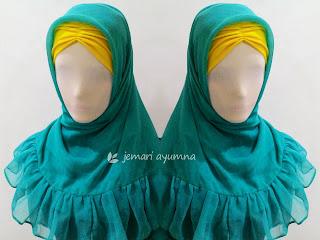 Membuat Ciput Kerut dari Dalaman Jilbab Lama