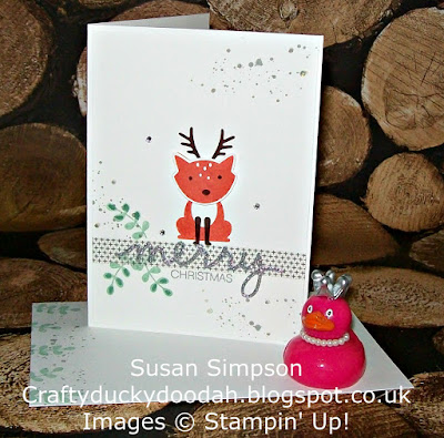 Stampin' Up! UK Independent Demonstrator Susan Simpson, Craftyduckydoodah!, Foxy Friends, Gorgeous Grunge, Holly Jolly Greetings, Christmas Greeting Thinlets, Supplies available 24/7,