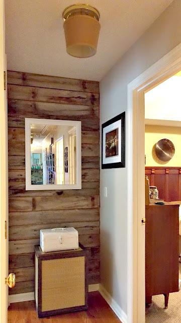 DIY Rustic Wood Wall