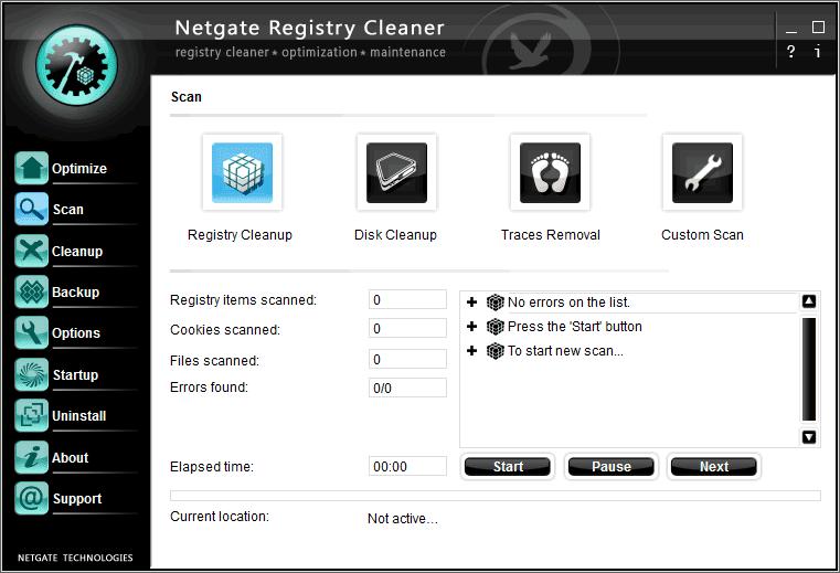 Descarga NETGATE Registry Cleaner