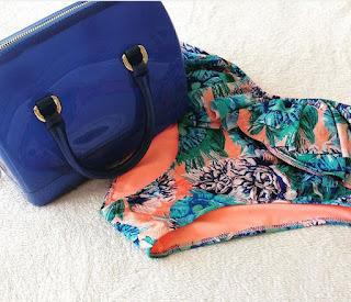 Blaue Candybag von Furla